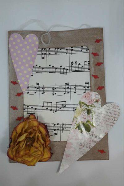 Romantický obrázek s notami