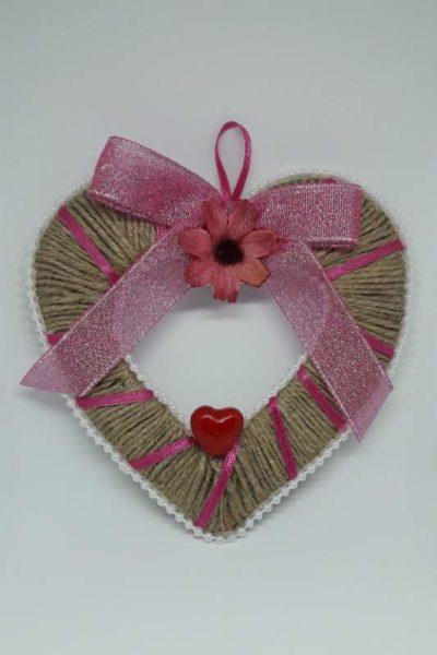 Valentýnské srdíčko s perličkami