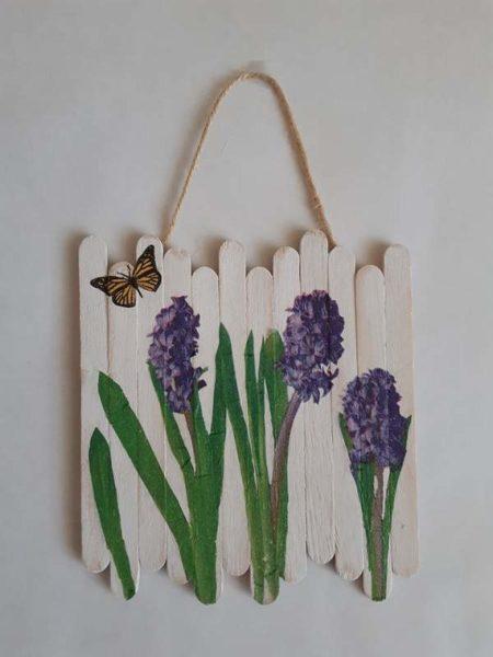Obrázek s hyacinty k zavěšení