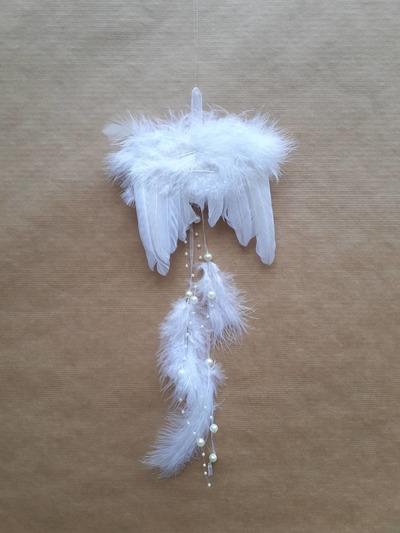 Andělská křídla – bílá peříčka